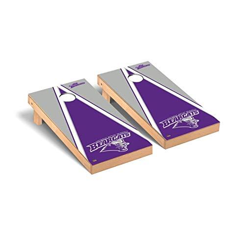- Victory Tailgate Regulation Collegiate NCAA Triangle Series Cornhole Board Set - 2 Boards, 8 Bags - Southwest Baptist University SBU Bearcats