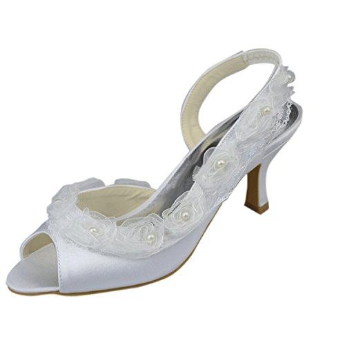 Minitoo , Damen Sandalen Ivory-6.5cm Heel