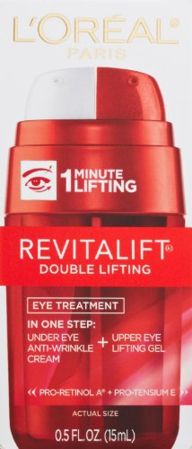 L'Oreal Paris Skincare RevitaLift Double Lifting Eye Cream Treatment with Pro-Retinol A and Pro-Tensium E to Reduce Wrinkles and Diminish Appearance of Dark Circles, 0.5 fl oz