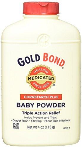 - Gold Bond Medicated Cornstarch Plus Baby Powder by Gold Bond