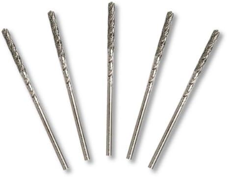 """10pc Diamond Twist Drill Bits 1//16/"""" Shank 120 Grit Glass Wood Metal Stone"""