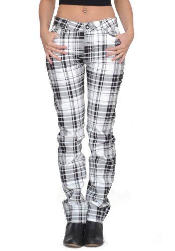 dab57854a23 hot sale 2017 My Christy Women s Tartan Checked Skinny Jeans ...