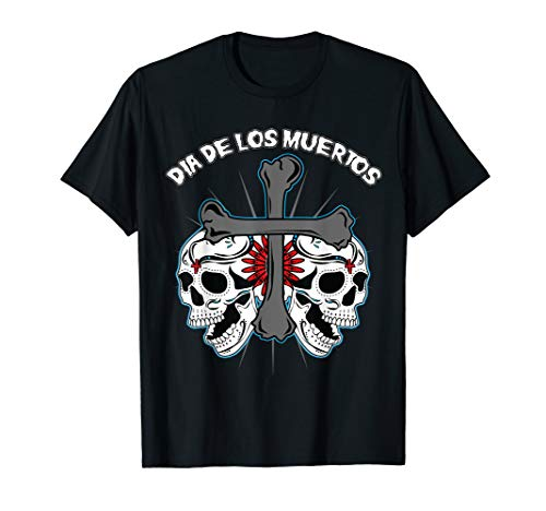 Day Of The Dead Bone Skulls Cross Dia De Los Muertos T-Shirt
