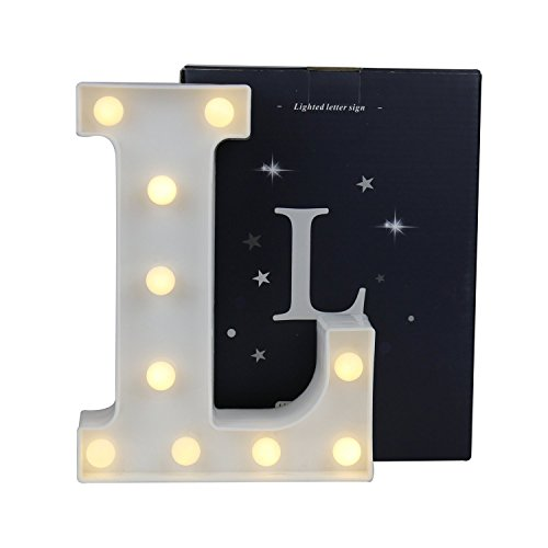 Lamp Alphabet (SDOUBLEM LED Marquee Letter Lights Alphabet Light Up Sign Table Decoration L)