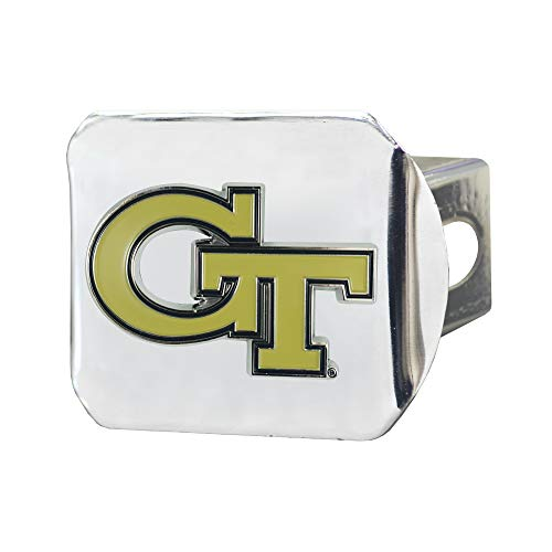 FANMATS NCAA Georgia Tech Color Hitch - Chromecolor Hitch - Chrome, Team Colors, One Sized