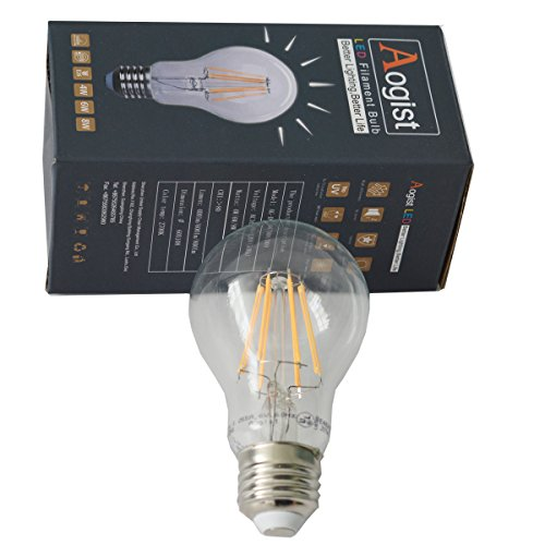 Aogist 6w Edison Style Vintage Sapphire Dimmable Led Filament Lights Bulb 2700k Warm White