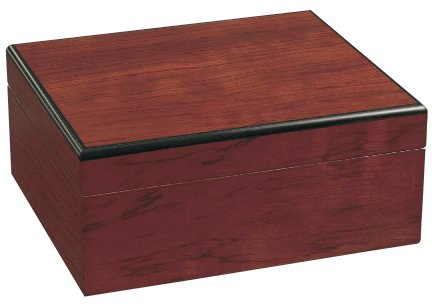 Savoy Medium Bubinga Humidor - Holds 50 Cigars