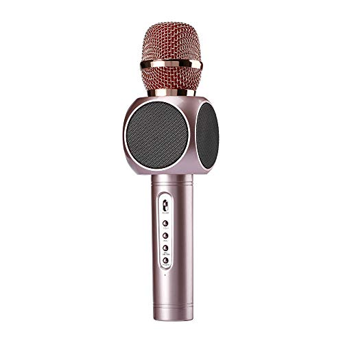Wireless Karaoke Microphone 3 in 1 Portable Bluetooth Karaoke Player System with Two Built-in Speakers Compatible with Android & iOS for Home KTV Bar Party Muisc Playing Singing & Recording Wireless B by Xiuzhifuxie (Image #6)