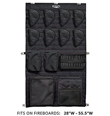 Stealth MOLLE Gun Safe Door Panel Organizer Large - Fully Customizable & Adjustable Storage Solution