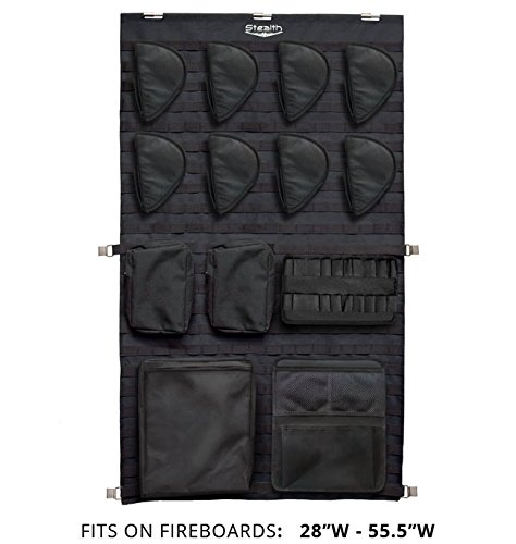 Stealth MOLLE Gun Safe Door Panel Organizer Large - Fully Customizable & Adjustable Storage Solution by STEALTH