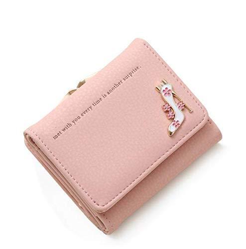 Women's PU Leather Mini Wallet Clutch Purse