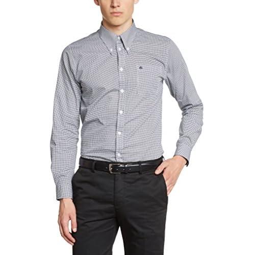 776cc6a092 salida Merc of London Merc - Camisa de manga larga con cuello con botones  para hombre