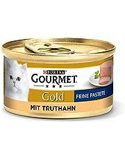Purina GOURMET Gold Fine Pastete, hoogwaardig kattenvoer, diervoeding, zacht genot, voor veeleisende katten, 12 stuks (12 x 85 g doos)