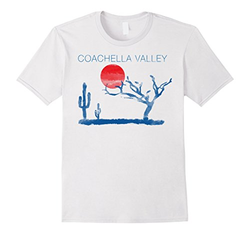 Mens Coachella Valley Desert Watercolor Travel Graphic T-Shirt XL - Men Coachella