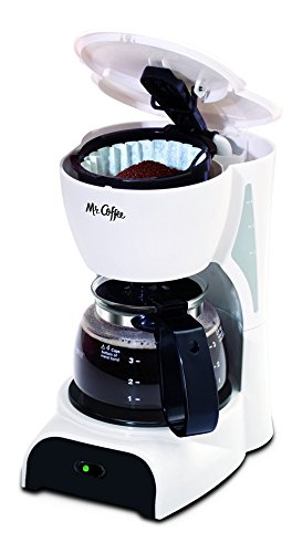 Mr. Coffee 4-Cup Coffee Maker, White