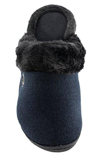Isotoner Gebreide Jersey Trui Voor Dames Gebreid Robin Klomp Zwart (small / 6.5-7)