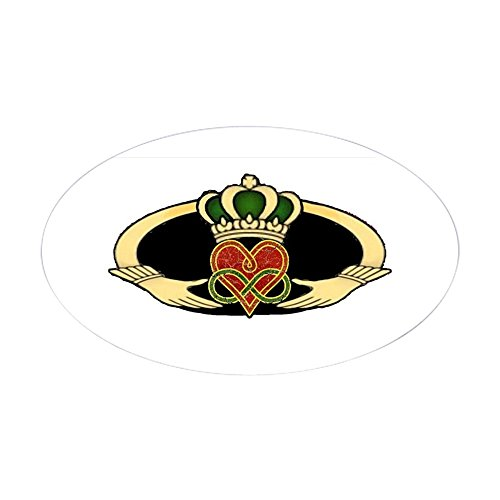 CafePress Poly Claddagh Medallion Oval Bumper Sticker, Euro Oval Car Decal