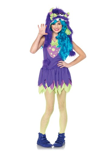 Monster Girl Sexy Costumes (Leg Avenue Junior's Gerty Growler Monster Costume, Purple, Medium/Large)