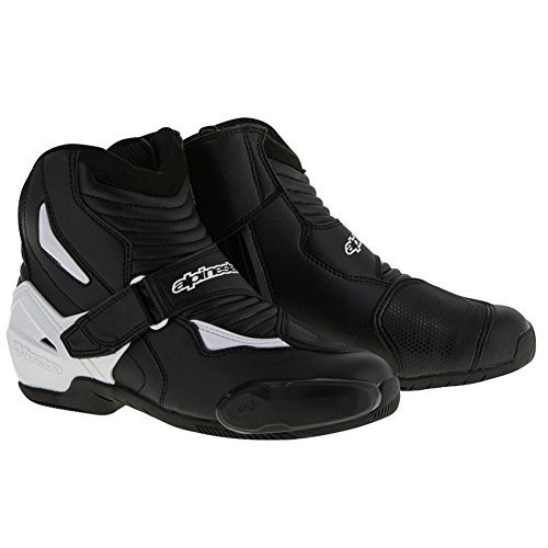 Alpinestars SMX-1R Mens Motorcycle Boots - Black/White - 42