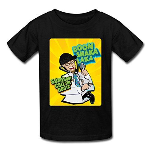 Spreadshirt FGTeeV Boom Shaka Laka Call The Docta Kids' T-Shirt, M, Black from Spreadshirt