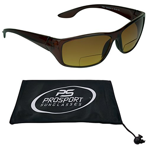 PRO  HD High Definition Bifocal Sun Reader Sunglasses for Men and Women. Tortoise Shell Brown Frame and Bifocal power 1.50. Free Microfiber Cleaning Case included. - Definition Glasses