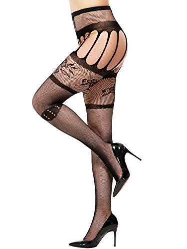 1f32fb3dcc3 Aeropost.com Costa Rica - Amoretu Womens Fishnet Tights Suspender Pantyhose  Stretchy Stockings Black