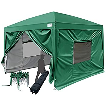 Amazon Com Quictent 8x8 Ft Ez Pop Up Canopy Tent Instant
