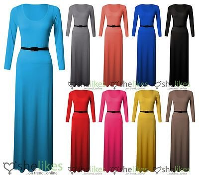 Buy belted pleated maxi dress - 5