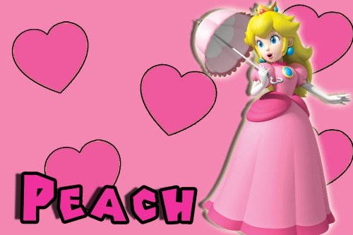 Princess Peach Edible Cake or Cupcake Image Topper]()