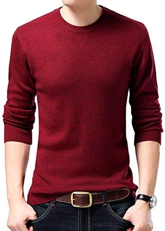 HX fashion męski sweter Basic z okrągłym kołnierzem Z wysokiej jakości ciepłego swetra dzianinowego Wygodne rozmiary Jednokolorowy sweter z dzianiny Ubranie: Odzież