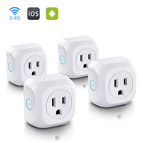 Wifi Smart Plug, Mini Wireless Control Outlet, Socket Compatible with Alexa Echo & Google Assistant Remote Control...