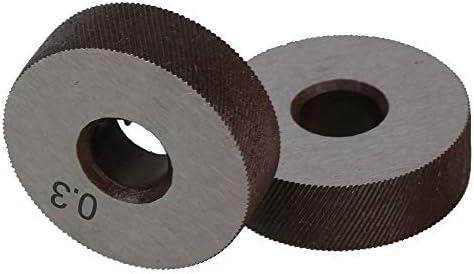 NO LOGO Rändelwerkzeug Paar 0.3mm Wälzfräser Rad Rändelrad Strukturierter Knurled Lathe Prägeradabschnitt Werkzeugmaschinen Zubehör Hob