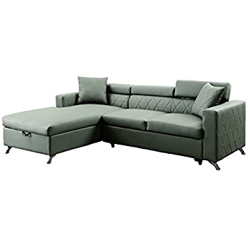 HOMES Inside + Out IDF-6292-SEC Steels Sleeper Sectional  sc 1 st  Amazon.com : chaise sleeper chair - Sectionals, Sofas & Couches