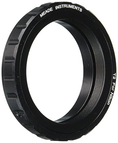 Meade Instruments 07378 Nikon T-Mount SLR Camera Adapter (Black) (Camera Mount For Telescope Meade)