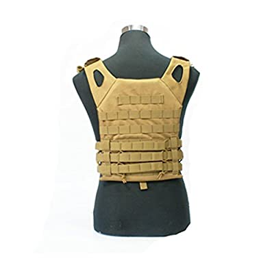 Tactical CS Field Vest Outdoor Breathable Training Protective Airsoft Vest Nylon Adjustable Gilet for Unisex Adults