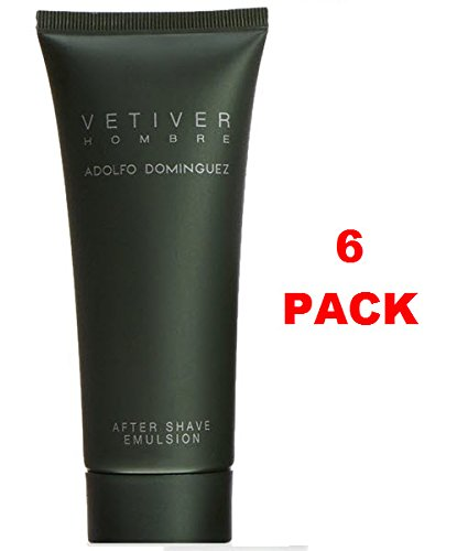 Adolfo Dominguez vetiver Aftershave 100 ml. Pack de 6: Amazon.es: Belleza