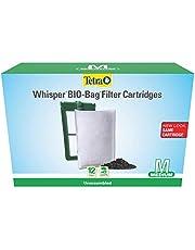 Tetra Aquarium Filter Cartridge, Bio-Bag Medium, 12 pack for Whisper ( Packaging May vary )