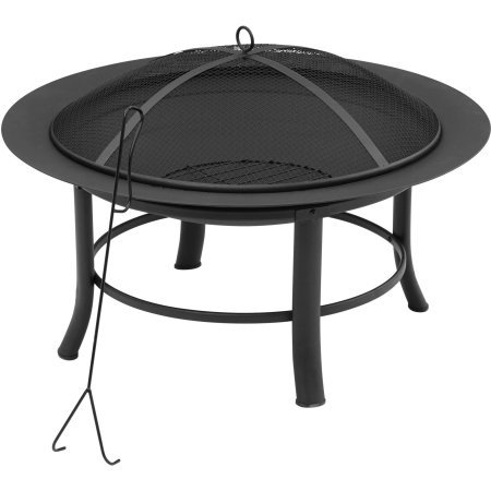 Fire Pit, 28' Includes a Spark Guard Mesh Lid With Lid Lift