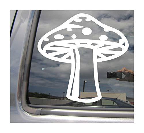 (Right Now Decals - Hippie Mushroom - Hippy Funky Retro Shroom - Cars Trucks Moped Helmet Hard Hat Auto Automotive Craft Laptop Vinyl Decal Window Wall Sticker 10259)