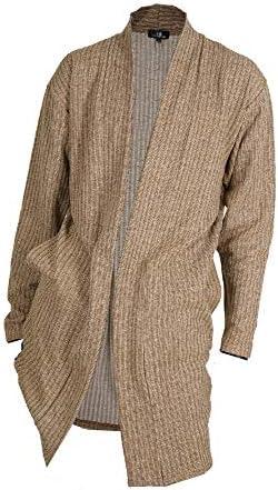 (メンズナーレ) MensNare メンズ MIXストライプショールガウン カーディガン 薄手 ロング丈 春物 B020114-01