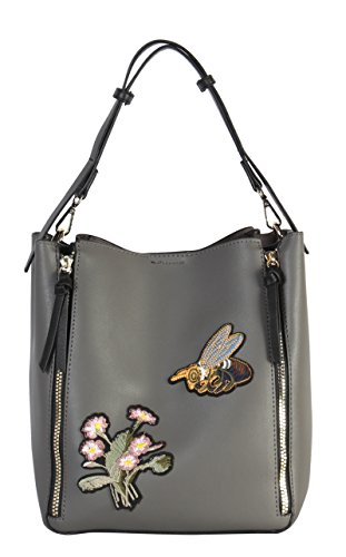 Rose Pieces XH 6433 Embroidered PU Dark Hobo Bee Rimen Leather Set 2 Zipper Double Daisy amp; amp; n7pm3lc4Ym yZn6BnTU