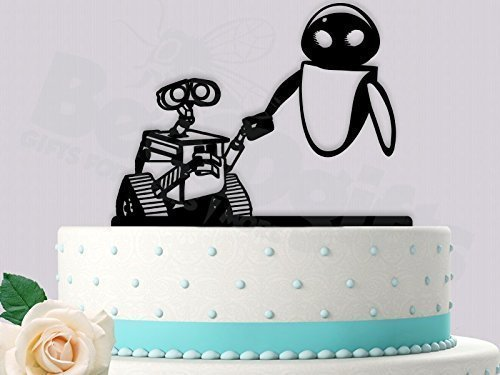 Wall E And Eve Detailed Wedding Cake Topper