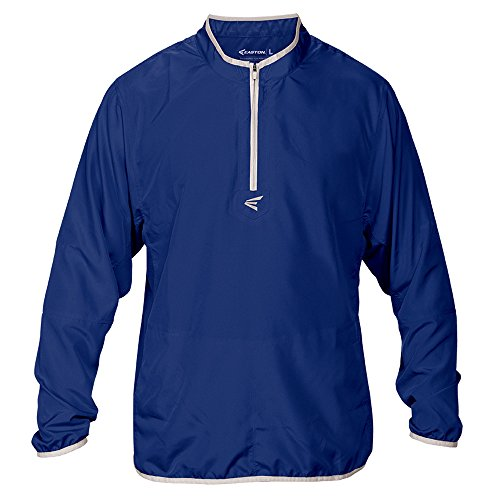 Easton Boys M5 Youth Long Sleeve Cage Jacket, Royal/Silver, Small