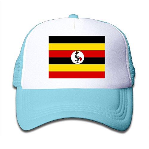 wholesale Futong Huaxia Flag Of Uganda Boy & Girl Grid Baseball Caps Adjustable sunshade Hat For Children free shipping