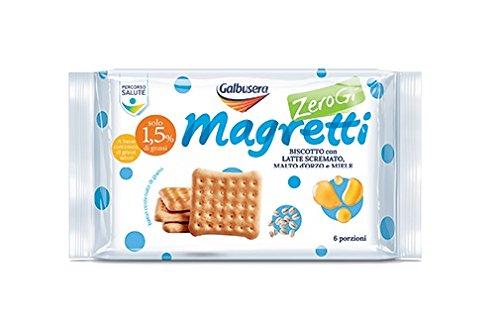 Galbusera , Magretti , Biscotto con Latte Scrematto, Malto d\u0027Orzo e Miele,