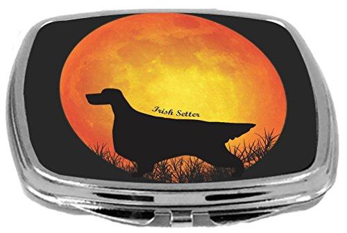 Rikki Knight Irish Setter Dog Silhouette By Moon Design Compact Mirror