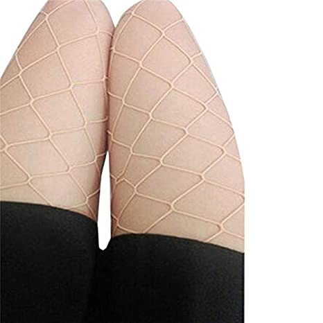 Amazon.com: FelixStore Women Stockings Sexy Hosiery Fishnet Elastic Thigh High Stockings Fishnet Tights Calcetines Mujer Female Pantyhose in a Grid Pug: ...