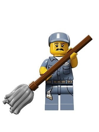 (LEGO Series 15 Collectible Minifigure 71011 - Janitor)