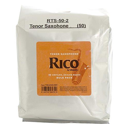 Rico 50 Reed Bulk Packs - Tenor Sax (2.0)