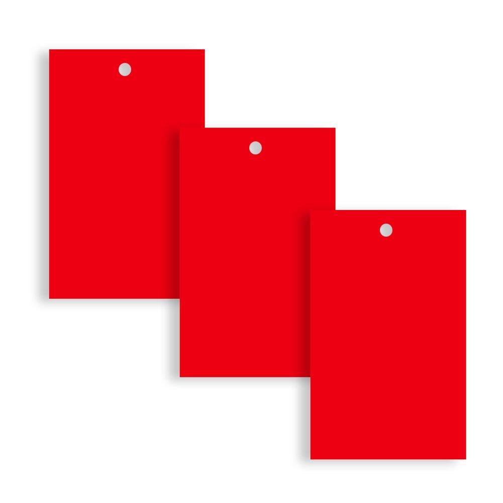 75 mm x 50 mm Etichette rosse per abbigliamento confezione da 100